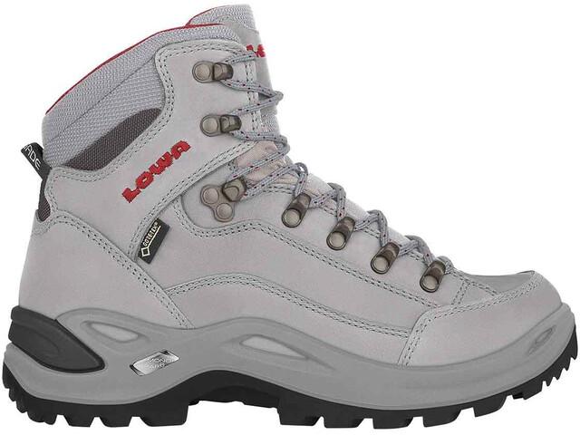Lowa Renegade GTX Mid Shoes Women, grey/red